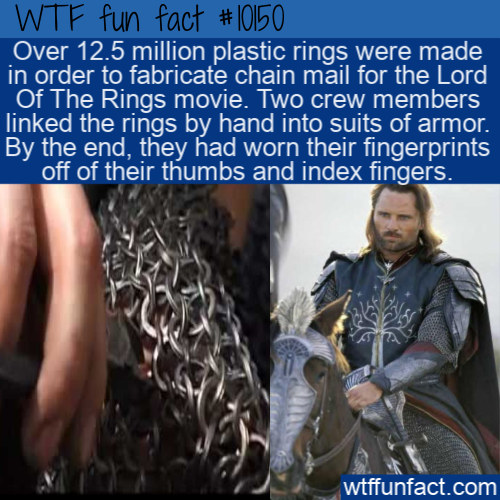 WTF Fun Fact - Chainmail Thumb Prints