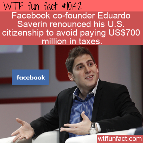 WTF Fun Fact - Citizenship to Avoid Tax