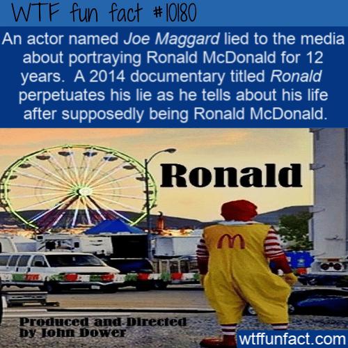WTF Fun Fact - Fake Ronald