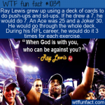 WTF Fun Fact - Ray Lewis Workout