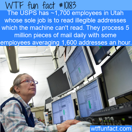 WTF Fun Fact - Illegible Mail Address