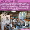 WTF Fun Fact – Messy Kitchen More Eating