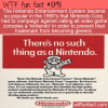 WTF Fun Fact – No Nintendo's