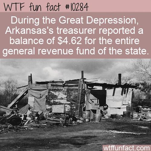 WTF Fun Fact - Arkansas broke