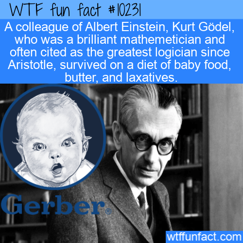 WTF Fun Fact - Kurt Godel Diet