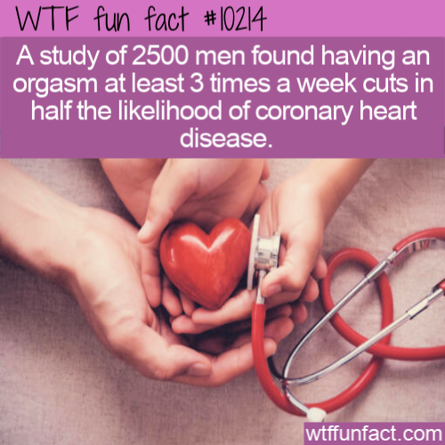 WTF Fun Fact -Orgasm Reduces Heart Disease