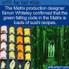 WTF Fun Fact – The Matrix Sushi Recipes