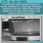 WTF Fun Fact - Webcam Invented