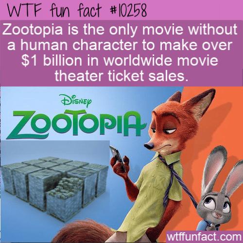 WTF Fun Fact - Zootopia Billions