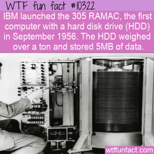 WTF Fun Fact - A Ton HDD