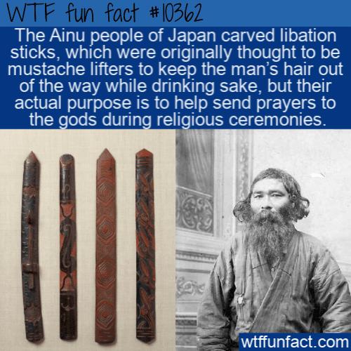 WTF Fun Fact - Ainu Libation Stick