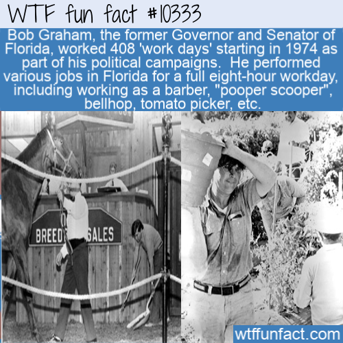 WTF Fun Fact - Bob Graham's 408 work days