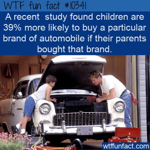 WTF Fun Fact - Parent's Car Brand