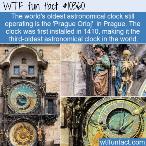 WTF Fun Fact - Third Oldest Clock