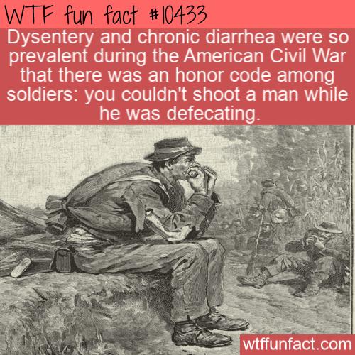 WTF Fun Fact - American Civil War Honor Code