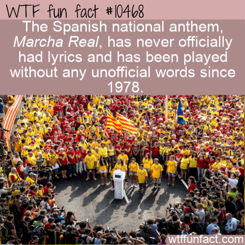 WTF Fun Fact - Anthem Without Words