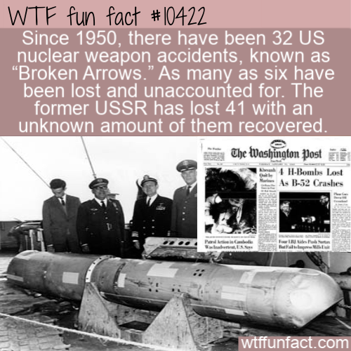 WTF Fun Fact - Broken Arrows Missing