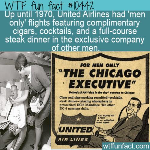 WTF Fun Fact - Men Only Flights