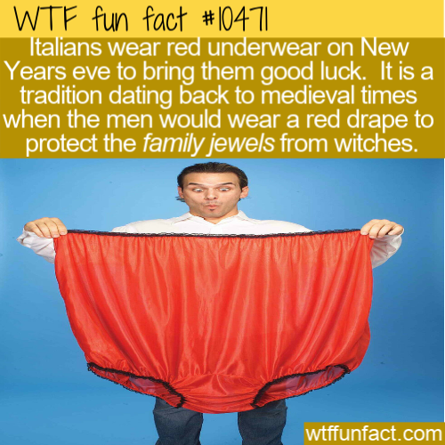 WTF Fun Fact - Lucky Red Underwear