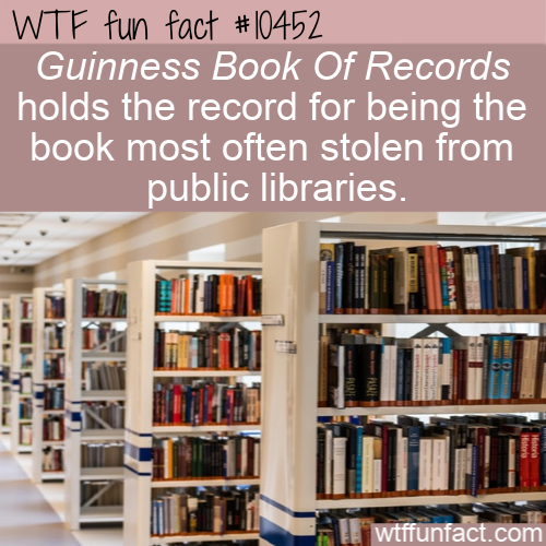 WTF Fun Fact - Stock Stolen Books
