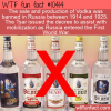 WTF Fun Fact – Vodka Banned In Russia