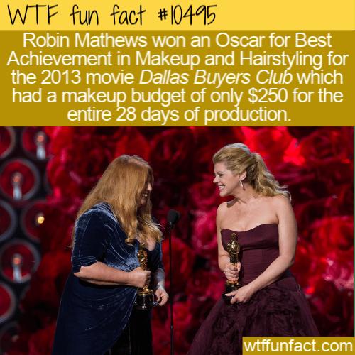 WTF Fun Fact - 250 dollars of makeup
