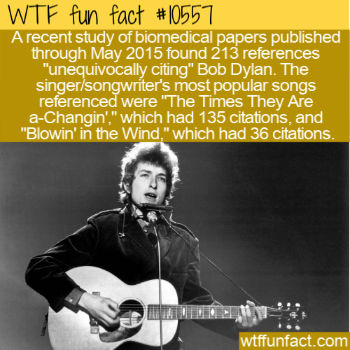 WTF Fun Fact - Bob Dylan Medical Papers