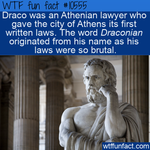 WTF Fun Fact - Draco Was Draconian