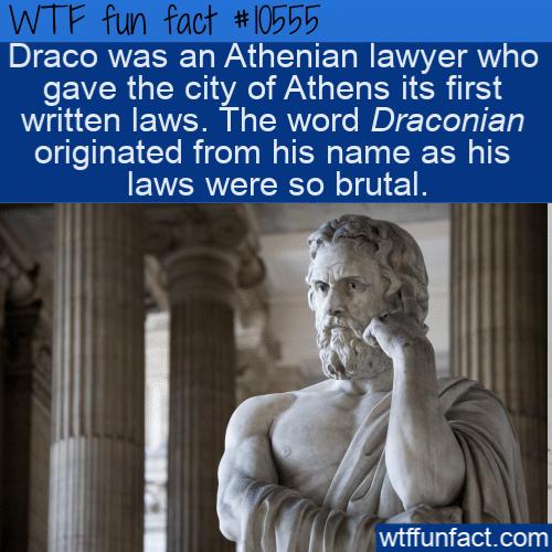 WTF Fun Fact - Draco Was Draconian