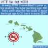 WTF Fun Fact – Smoking Age In Hawaii