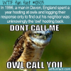 WTF Fun Fact – Hooting or Hollering