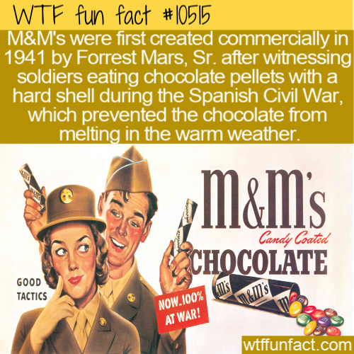 WTF Fun Fact - M&M's Origin For Soldiers
