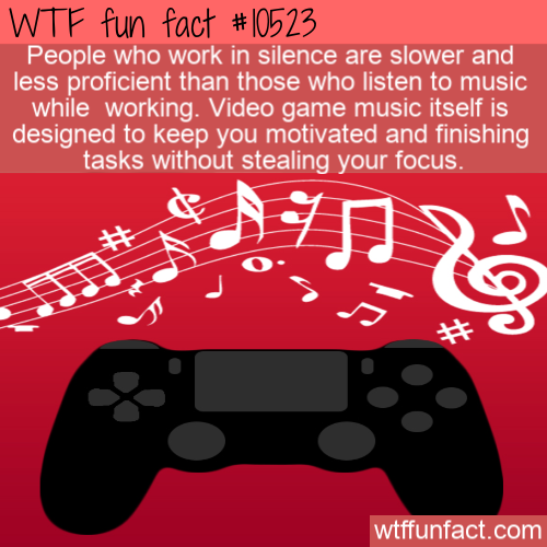 WTF Fun Fact - Music Make Efficiency