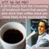 WTF Fun Fact – Black Coffee Personality