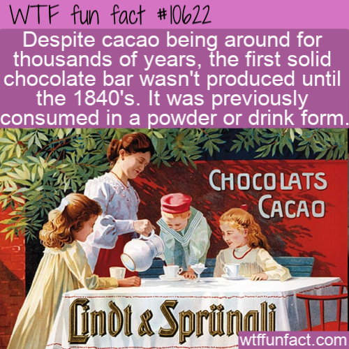 WTF Fun Fact - Chocolate Bar