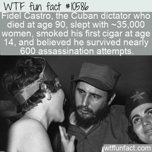 WTF Fun Fact - Fidel Castro Facts