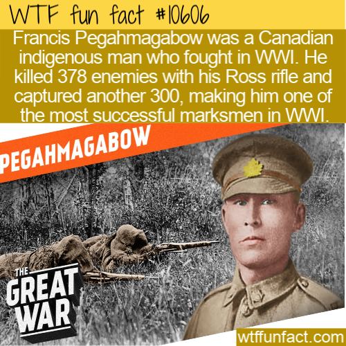 WTF Fun Fact - Francis Pegahmagabow