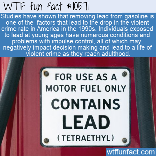 WTF Fun Fact - Lead Fuel Crime Reduction