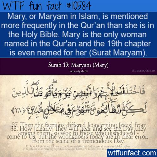 WTF Fun Fact - Maryam In Qur'an