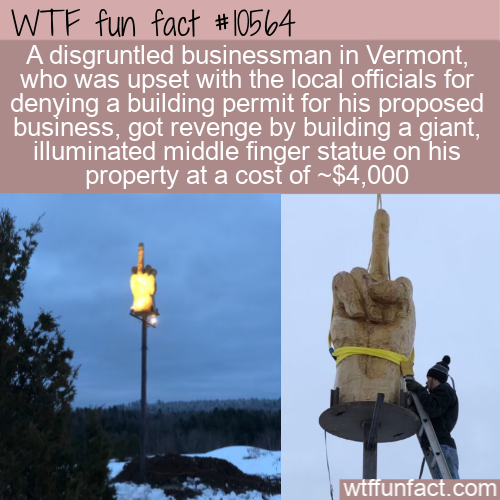 WTF Fun Fact - Middle Finger Vermont