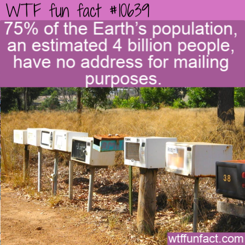 WTF Fun Fact - Missing mailing address