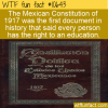 WTF Fun Fact – First Right To An Education