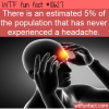 WTF Fun Fact – Never Had A Headache