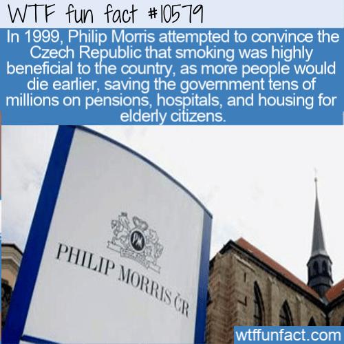 WTF Fun Fact - Phillip Morris Czech Yourself