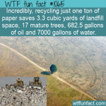 WTF Fun Fact - Saving Natural Resource