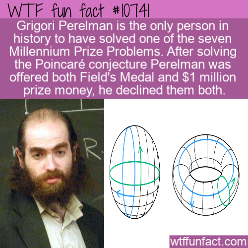 WTF Fun Fact - Grigori Perelman