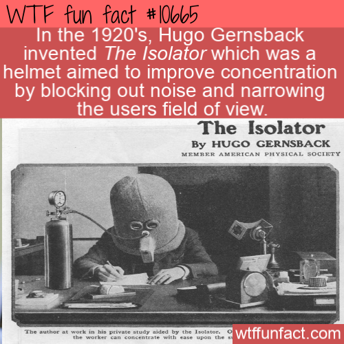 WTF Fun Fact - Isolator