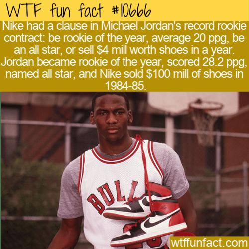 WTF Fun Fact - Jordan's Nike Contract