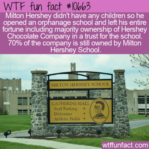 WTF Fun Fact - Milton Hershey School