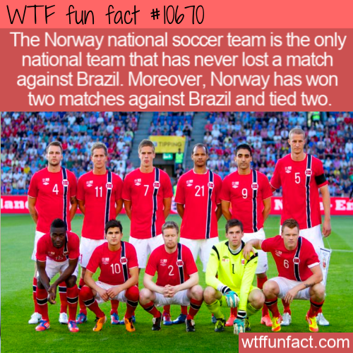 WTF Fun Fact - Norway Undefeated vs Brazil